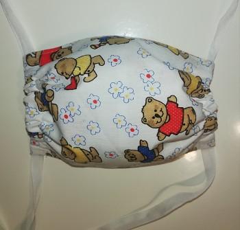 Rouška dětská bavlněná- Medvídci