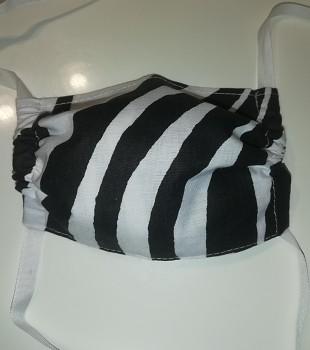 Rouška dětská bavlněná- zebra černá