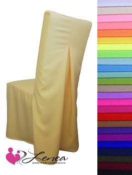 POTAH na židli Elegant-barva na přání- s rovným opěradlem