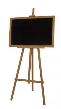 Dřevěný stojan s tabulí teak- zapůjčení